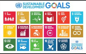 Die Logos der Sustainable Development Goals.